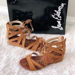 ✨New SAM EDELMAN Danica Lace Zip Gladiator Sandals